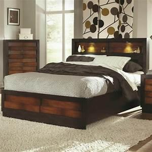 Lit Design Bois : la t te de lit avec rangement un gain d 39 espace d co ~ Teatrodelosmanantiales.com Idées de Décoration