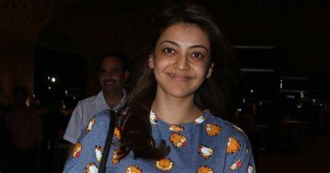 Kajal Agarwal Real Face Without Makeup At Mumbai Airport