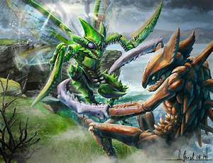 Pokemon fight - Kabutops VS Scyther by SimonGangl on ...