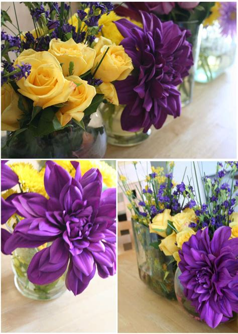 purple yellow dinner party party ideas yellow party