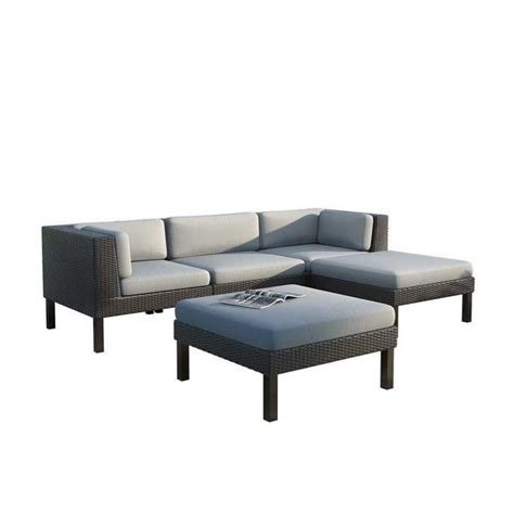 chaise pc 5 pc sofa with chaise lounge patio set ppo 804 z