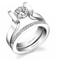 tension setting engagement ring tension set rings