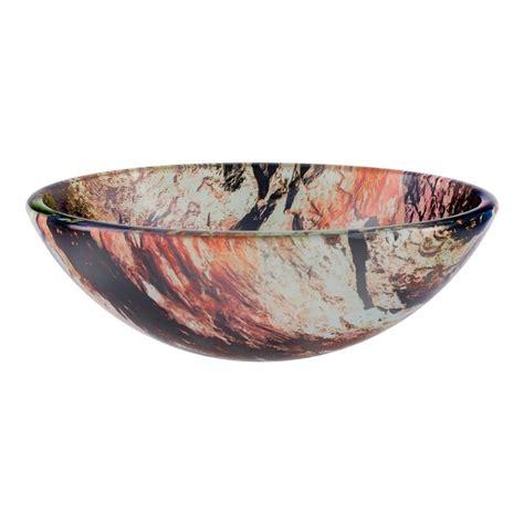 novatto cullare redwhiteblack tempered glass vessel