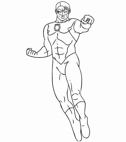 Coloring Pages Justice League Flash Toddler Superhero