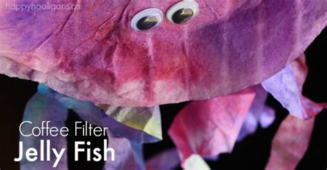 coffee filter jellyfish craft happy hooligans
