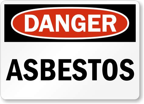 asbestos warning signs clipart