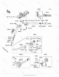 Kawasaki Motorcycle 2007 Oem Parts Diagram For Handlebar