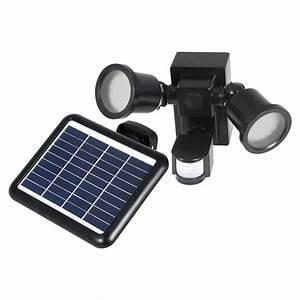 Spot Detecteur De Mouvement : spot solaire puissant 2 lampes 560 lumens d tecteur de ~ Dailycaller-alerts.com Idées de Décoration