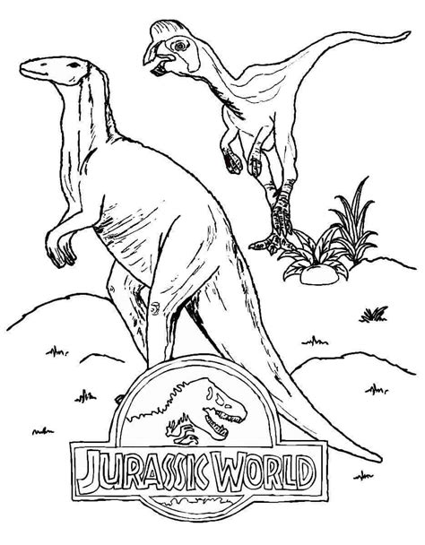 printable jurassic world coloring pages