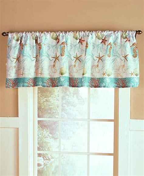 Bathroom Window Curtain Valance by Details About Valance Coastal Living House Sea