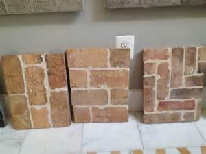 brick floor tile that look like worn brick home