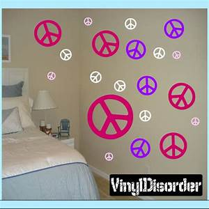 creating a new room is just a vinyl kit away vinyl With good look peace sign wall decals