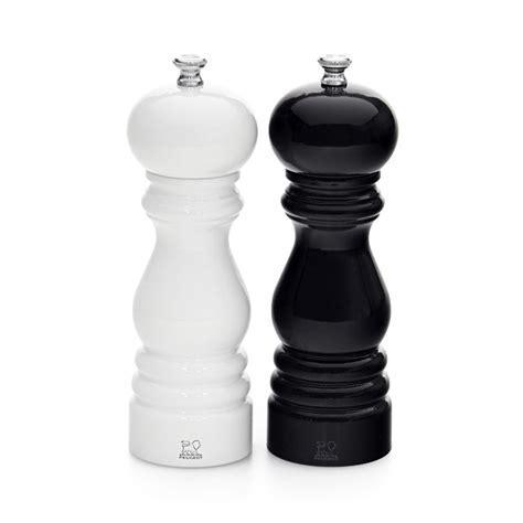Peugeot Paris Salt & Pepper Mill Duo 18cm Gloss Black & White