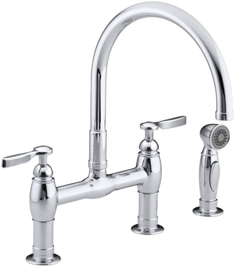Kohler High Rise Bridge Faucet by Faucet K 6131 4 Cp In Polished Chrome By Kohler