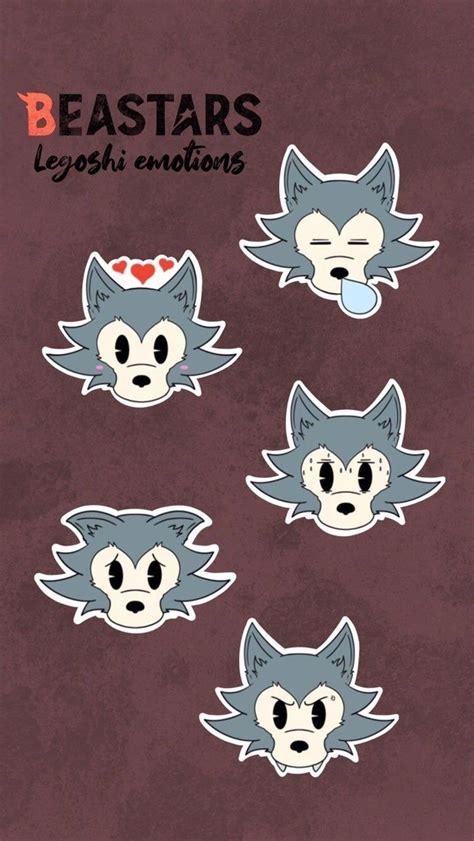 beastars legoshi pack of stickers emotions fanart anime