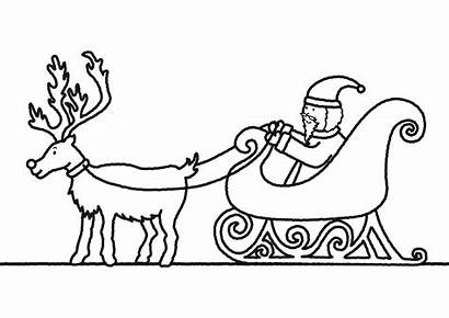 Sleigh Santa Coloring Pages Printable Claus Drawing