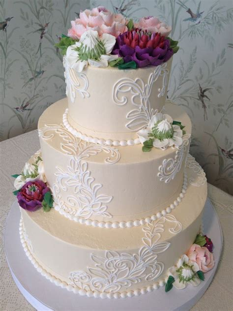 buttercream wedding cake wedding cakes pinterest