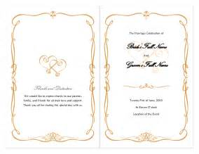 sle wedding programs template free wedding borders for invitations wedding invitation