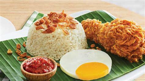 menu sarapan zaman  nasi uduk pakai ayam goreng mcd viva