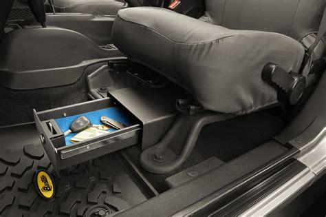 jeep wrangler storage bestop 174 42640 01 locking under seat storage box for