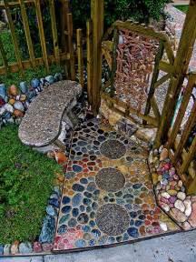 Riverstone Sink by Casual Casa Cool River Rock Pebble Walkway