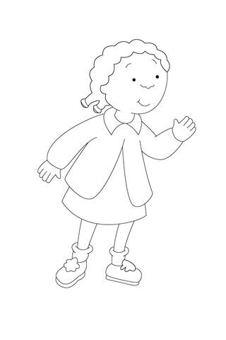 clementine      attention coloring page
