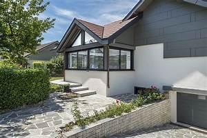 Extension Ossature Bois : extension de maison en ossature bois et aluminium en haute ~ Melissatoandfro.com Idées de Décoration