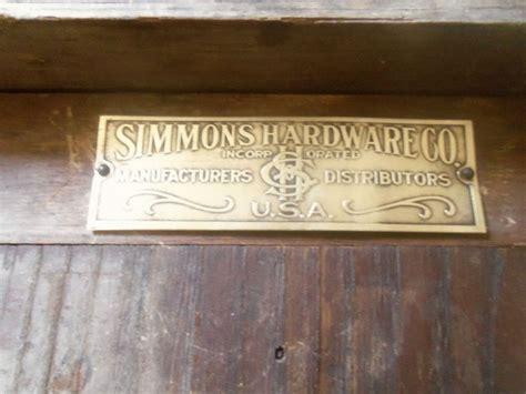 antique simmons hardware  vintage display cabinet