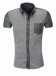 Chemise Homme A Carreau : chemise homme carreau classe gris 9057 ~ Melissatoandfro.com Idées de Décoration