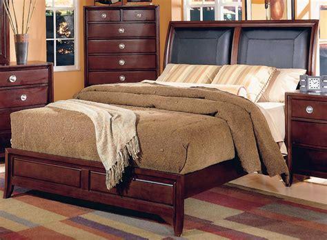 Homelegance Capria Sleigh Bed Leather Headboard 878ll 1