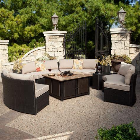 Belham Living Meridian Outdoor Wicker Patio Furniture Set