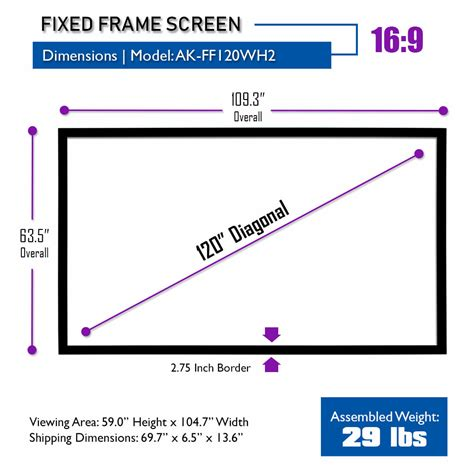 ultra hd  ready fixed frame  projector screen