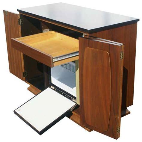 mini refrigerator cabinet bar midcentury retro style modern architectural vintage