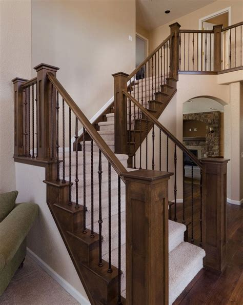 Wooden Stair Banister by 17 Best Ideas About Wood Stair Railings On