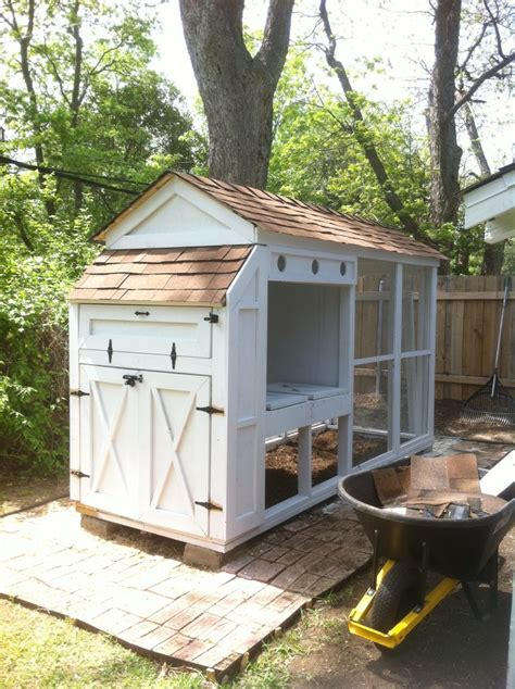 White Shed Chicken Coop by Cool Chicken Coops Convention Dallas Traditional Garage