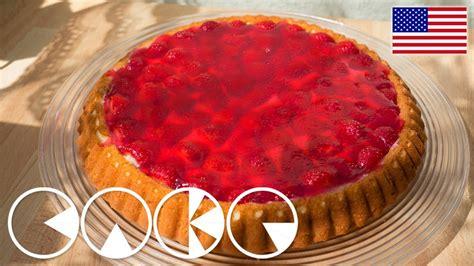 german strawberry cake fruit cake  recipe youtube