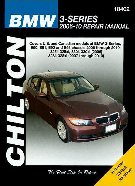 chilton car manuals free download 2010 bmw x3 lane departure warning bmw 325i 325xi 328i 328xi 330i 330xi repair manual 2006 2010
