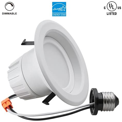 4 inch recessed lighting bulbs retrofit can led recessed light e26 dimmable bulb