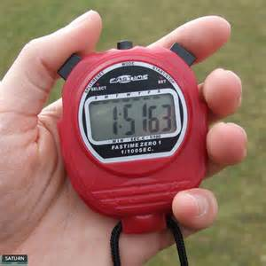 Digital Stopwatch with Hand
