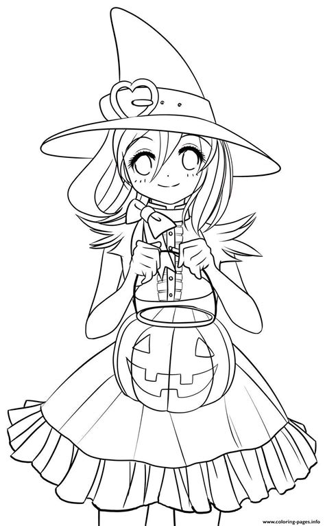 Halloween Cute Costume10ac Coloring Pages Printable