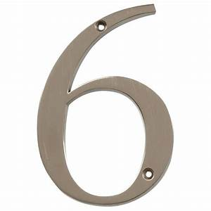 the hillman group distinctions 4 in flush mount brushed With brushed nickel house numbers and letters