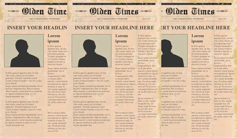 newspaper templates psd