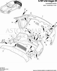 Aston Martin V8 Vantage Pare-chocs Arri U00e8re