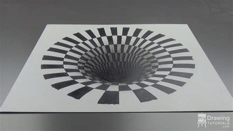 draw optical illusions templates how to draw a 3d hole optical illusion my drawing tutorials