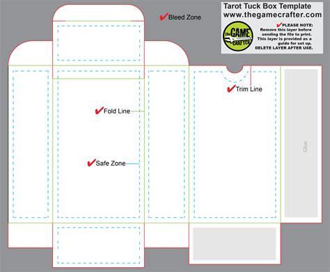 Tuck Box Templates by Tarot Tuck Box 90 Cards