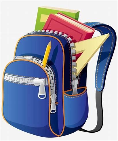Backpack Clipart Bag Clip Supplies Bags Transparent