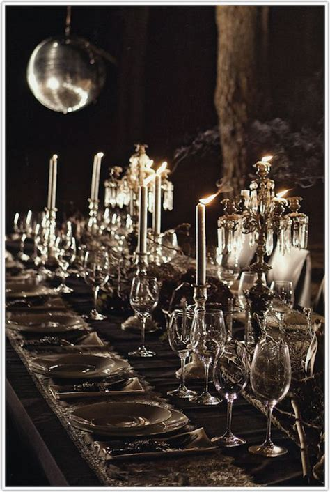 Halloween Masquerade Table Beautiful Dark Ambiance With
