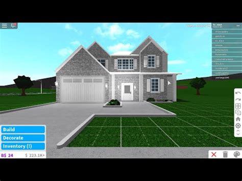story modern house bloxburg speed build