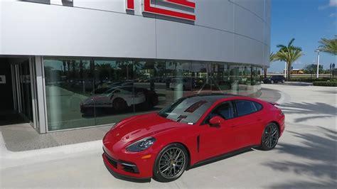 red porsche panamera 2017 2017 carmine red porsche panamera 330 hp porsche west