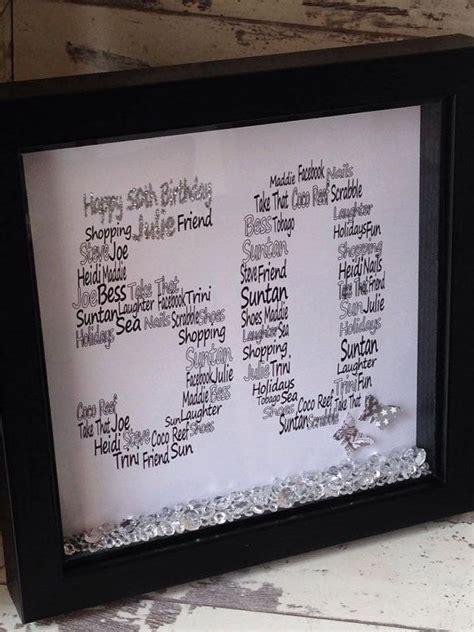 personalised  birthday gift word art